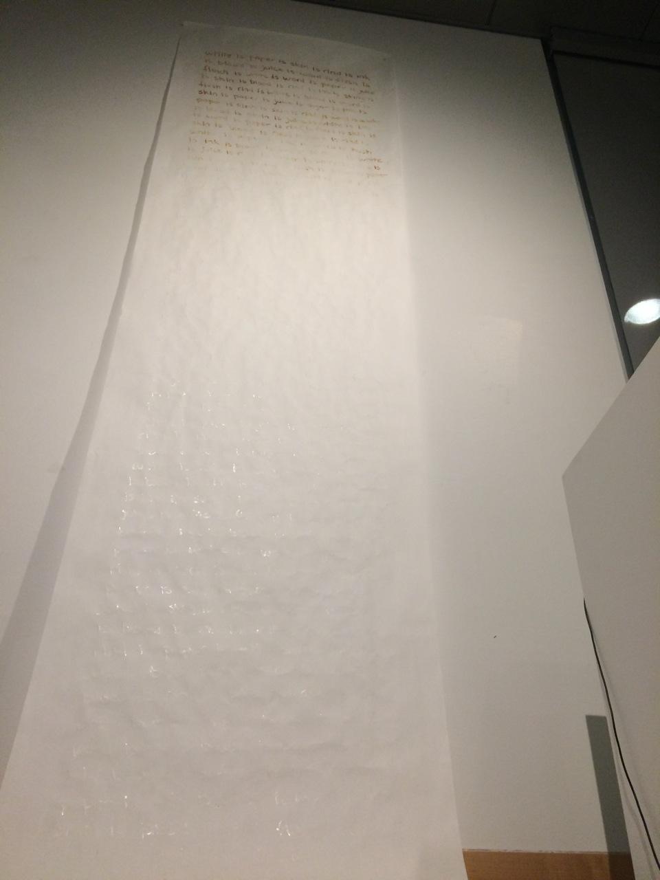 is white is  /  Retrogradatio Cruciata, 2017