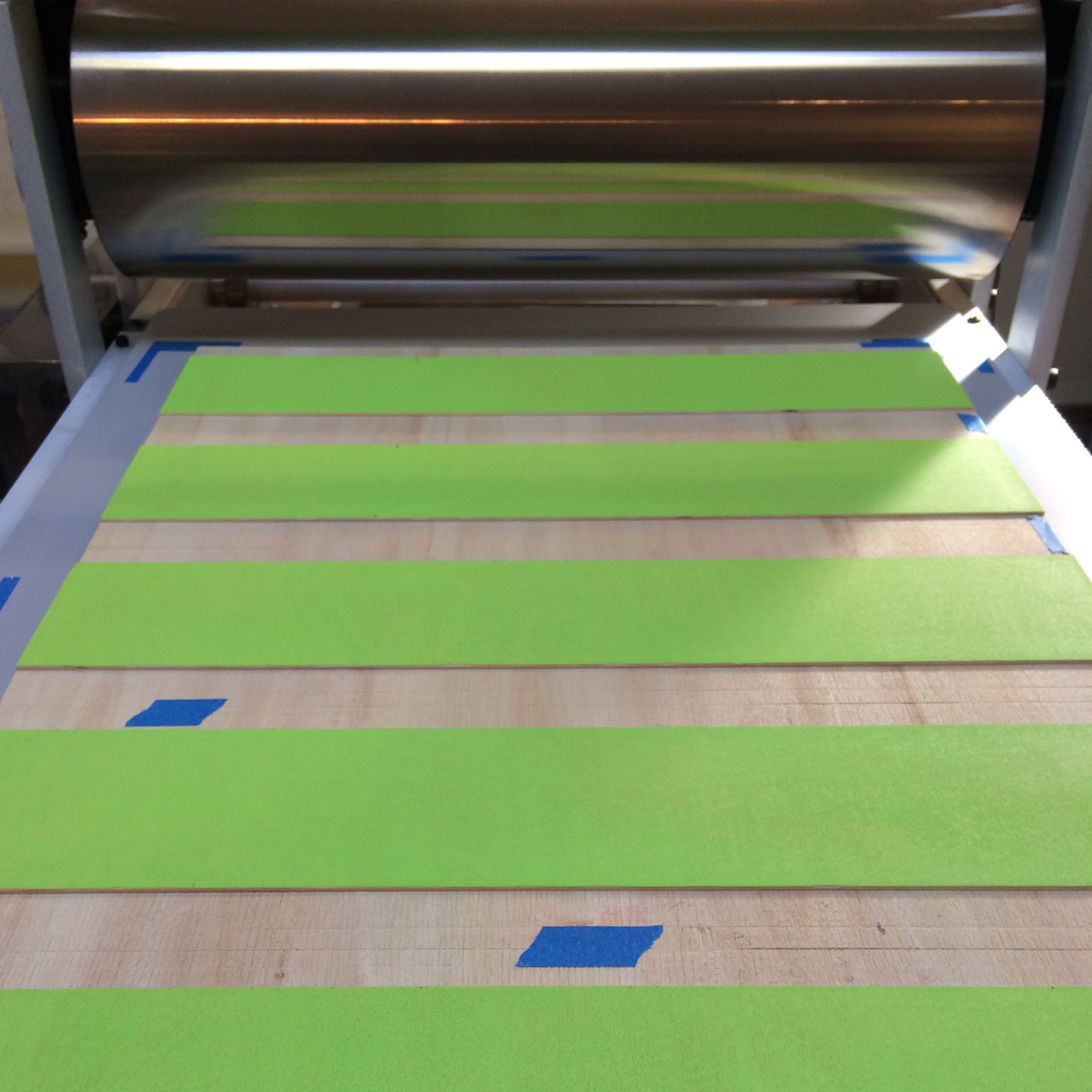 """Sharp & Close II"" being printed"