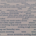 """Unique Words"" 4-color broadside detail, in progress"